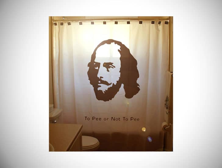 SHAKESPEARE SHOWER CURTAIN WITH A TWIST