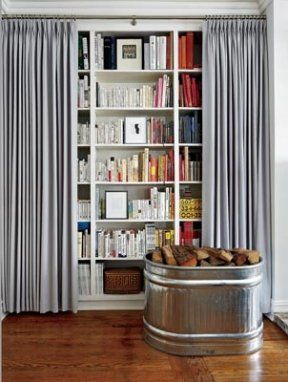 Give Your Interior A Clean Look With Curtained Bookcases
