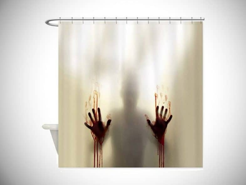 SCARY PSYCHO SHOWER CURTAIN