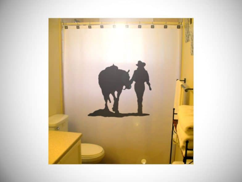 COWGIRL SHOWER CURTAIN HORSE