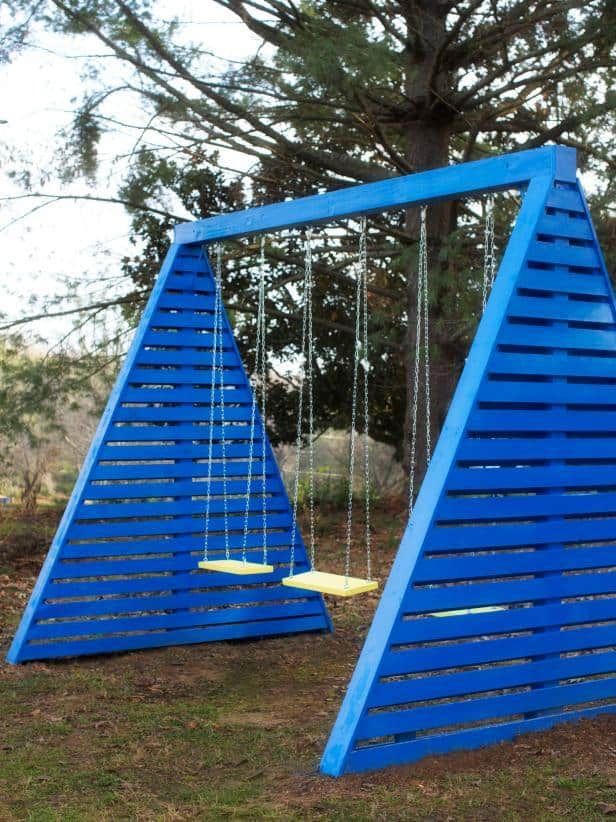 THE MODERN A-FRAME SWING SET