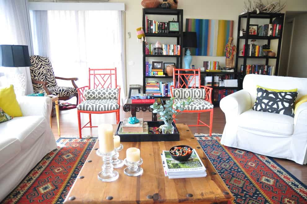 Eclectic decorating living room eclectic with chinese chippendale chairs mixed patterns coffee table 10