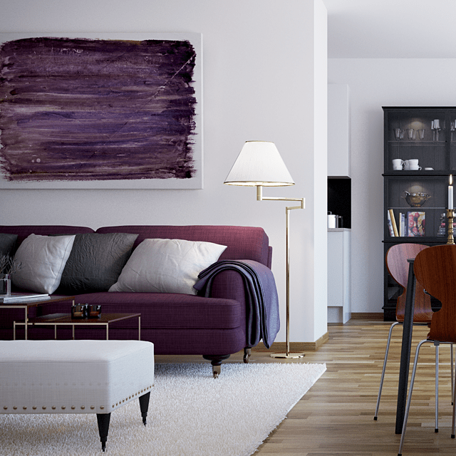 Modern Style Purple Sofas Bright Provides Living Room Decor Among Small Shaped Design Inspiration Home