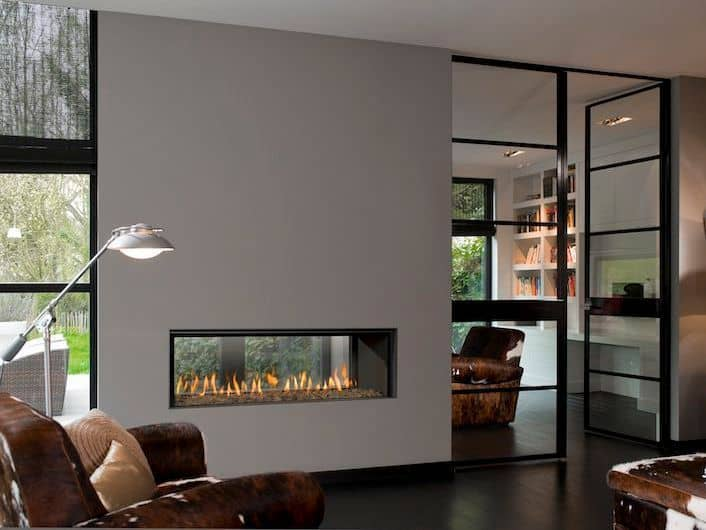 20 Functional Double Sided Fireplaces, 2 Sided Fireplace Ideas