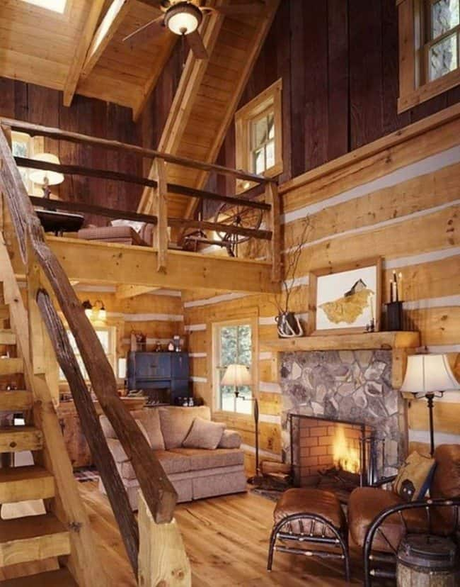 log cabin decorating ideas for a big house