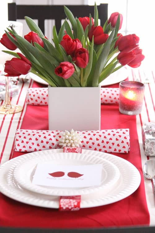 romantic valentines day table settings 43