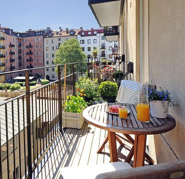 small spaces balcony designs outdoor furniture 4