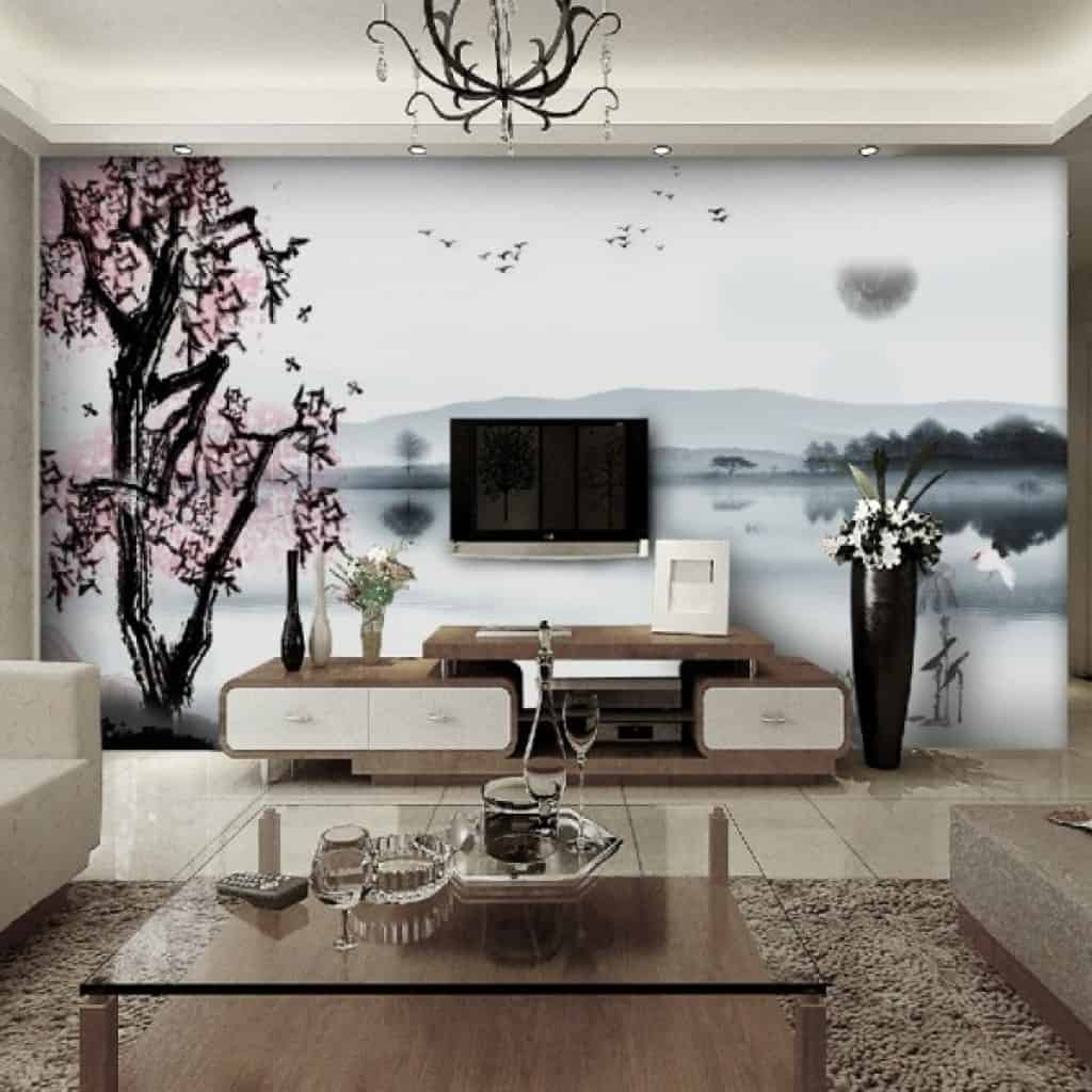 Living Room Wallpaper Ideas 2013: 20 Inspirational Statement Walls Ideas That Will Spice Up
