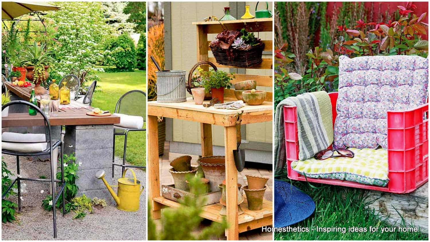 20 remarkable diy outdoor furniture on a budget - Patio Furniture Ideas