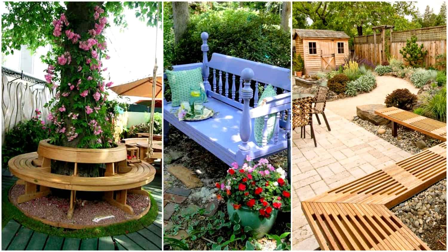 Pleasing 20 Smart Garden Bench Designs That Will Enhance Your Backyard Creativecarmelina Interior Chair Design Creativecarmelinacom