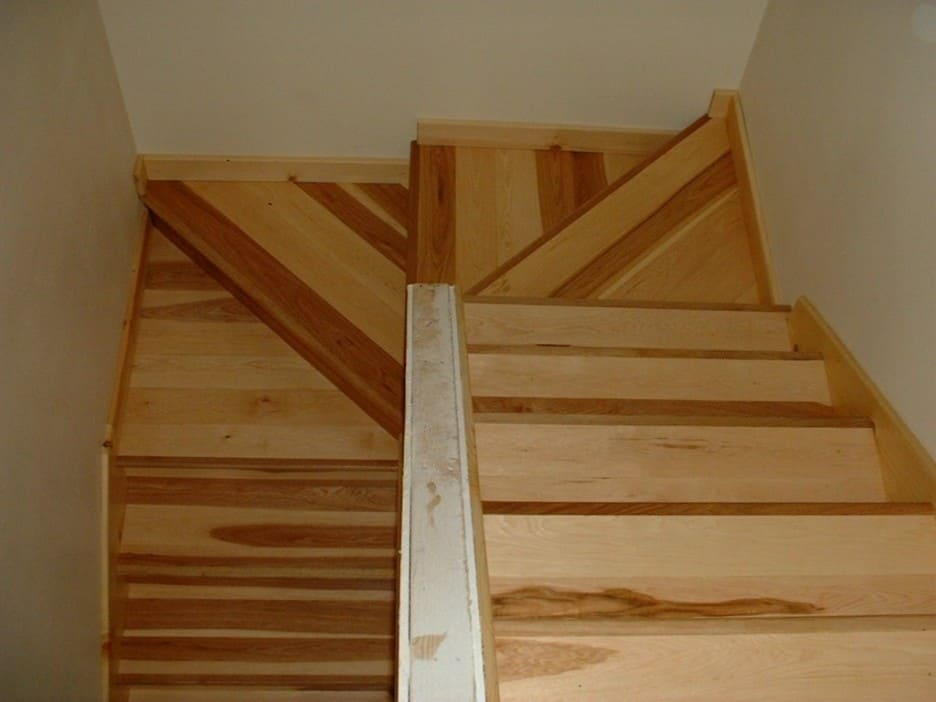 Top Down View Of A Double Winder Staircase