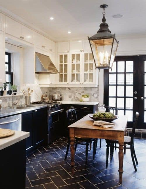 LANTERN STYLE LIGHTING french kitchen