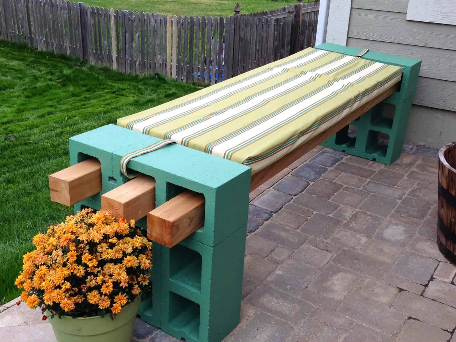 green lowes cinder blocks outdoor bench with cushion seat for outdoor decoration ideas lowes cinder block cinder color cost of cinder blocks decorative concrete blocks home depot lowes flagstone