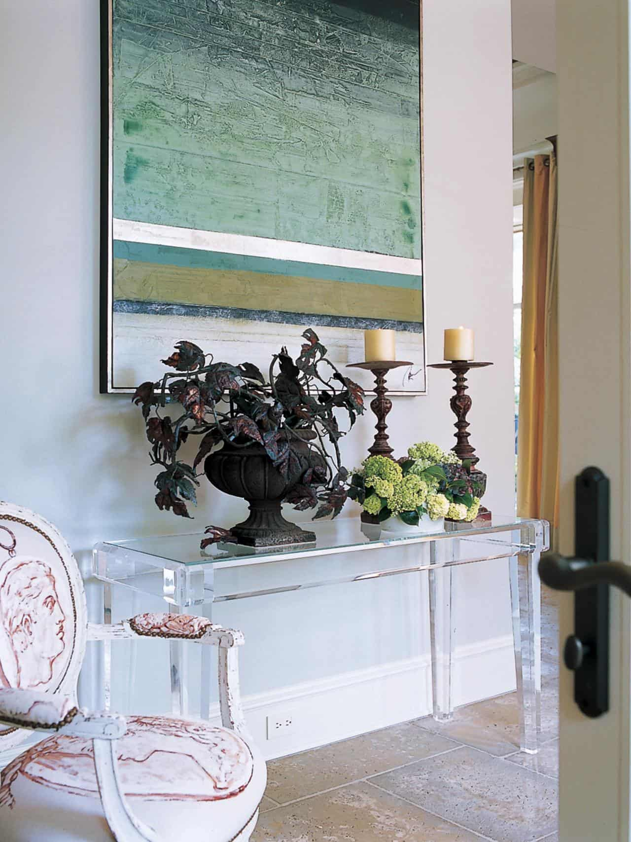 serene lucite console table in interior decor lucite acrylic chairs acrylic console table lucite tables lucite desks furniture as wells as entryway decor lucite console table then hallway acrylic console