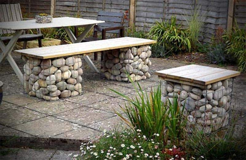 Awesome Stone Garden Furniture Wood Garden Furniture Ideas Designs Gmtry Best Dining Table And Chair Ideas Images Gmtryco