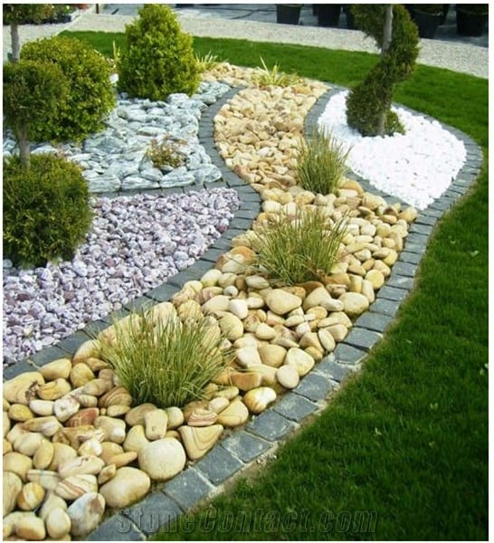 21 Incredible Pebble Landscapes That Will Enhance Your ... on Pebble Yard Ideas id=45158