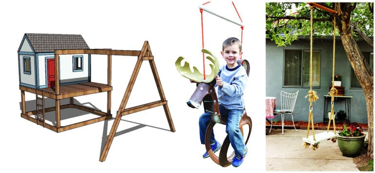 47 Free DIY Swing Set Plans for a Happy Playing Area in Your Backyard