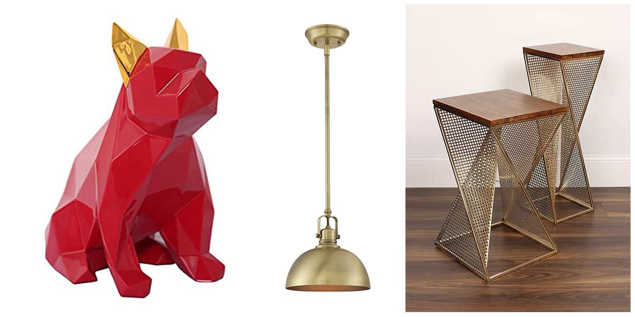 20 Gold Geometric Decor Pieces for a Posh amp Luxuriant Home