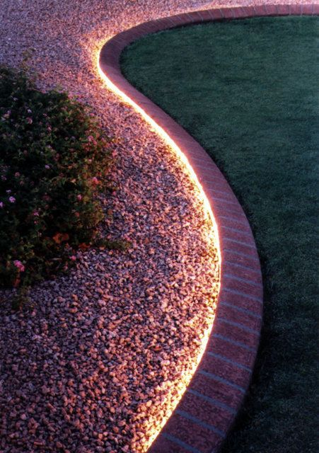6. Use Light to Highlight Your Garden Edging