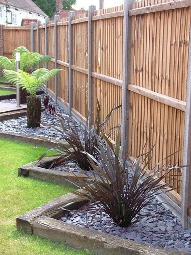 21. Use Railway Ties to Shape Garden Edges