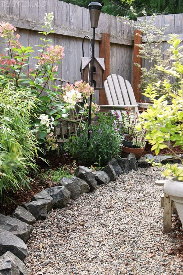 58. Use Boulders to Shape Your Garden Edge