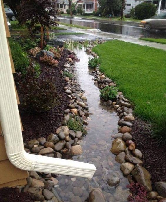 45. Use Rain Water to Create a Water Garden Edge