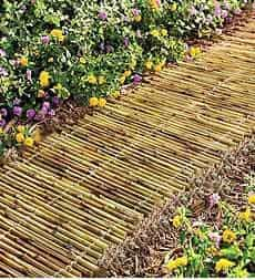 51. Use Horizontal Bamboo Garden Edges