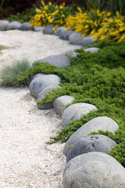 20. Use Gray Boulders to Enhance Greenery