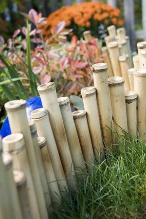 49. Epic Bamboo Garden Edging