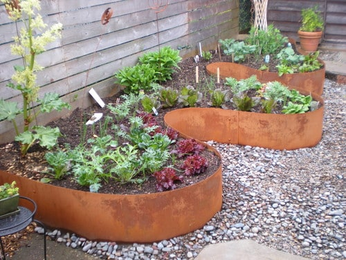 10. Use Metal Garden Edges