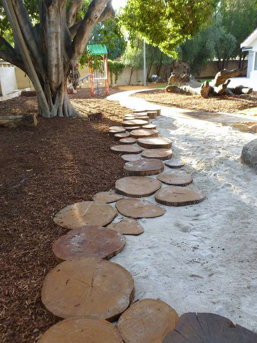67. Flat Log Edging Ideas