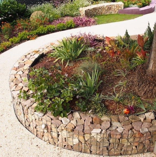 Use Gabions With Rock and Wood