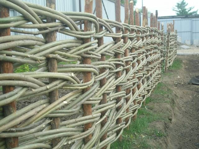 29. Woven Willow Branch Garden  Edging