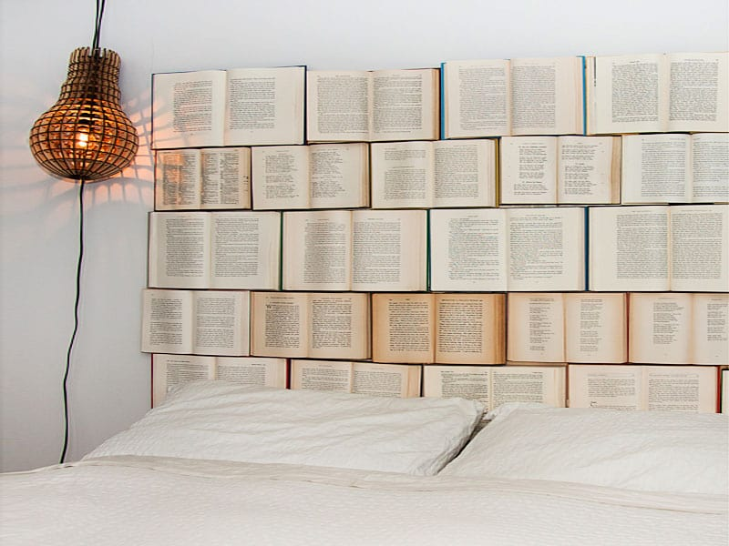 Recycled Book Headboard