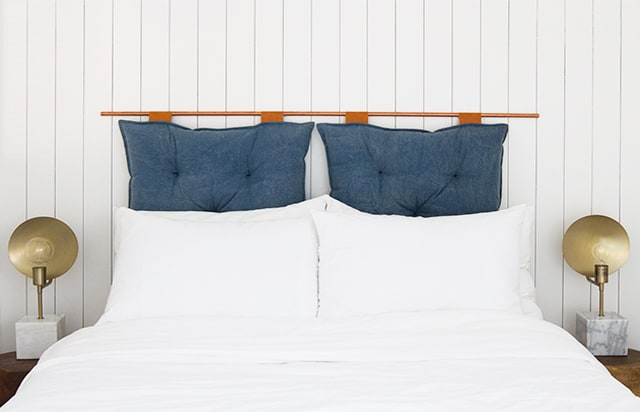 DIY Pillow Headboard