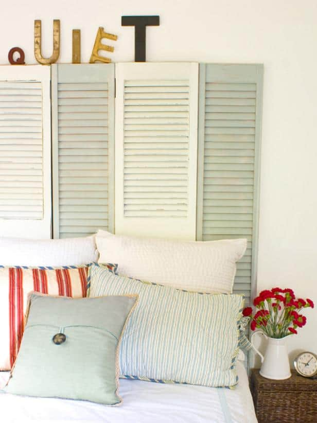 Coastal Cottage Shutter Headboard