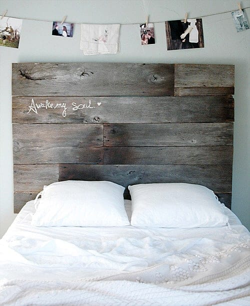 Simple Salvaged Headboard