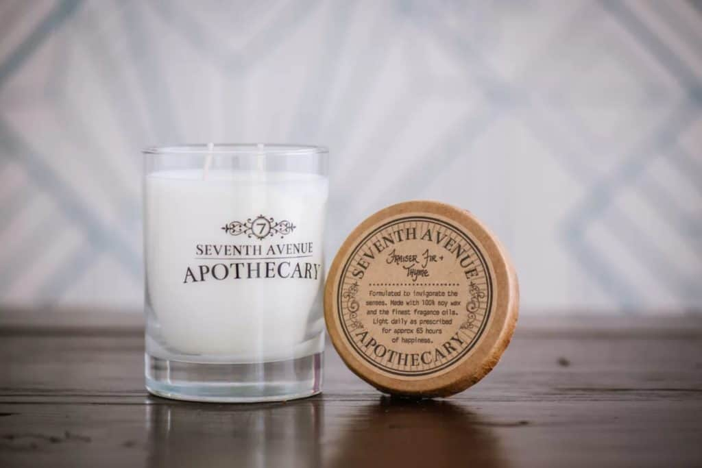 Frasier Fir and Thyme Scented Jar Candle