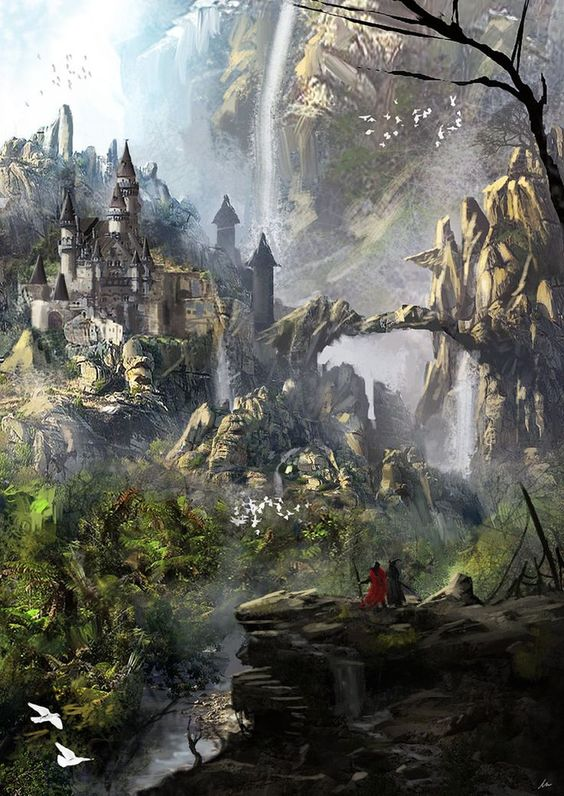 castle in the forest lord of the rings inspired