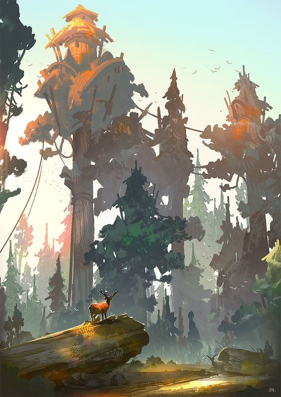 51 Enigmatic Forest Concept Art That Will Amaze You