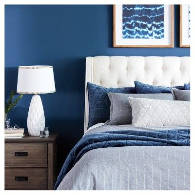 23. Light Navy Blue Bedroom in Contrast