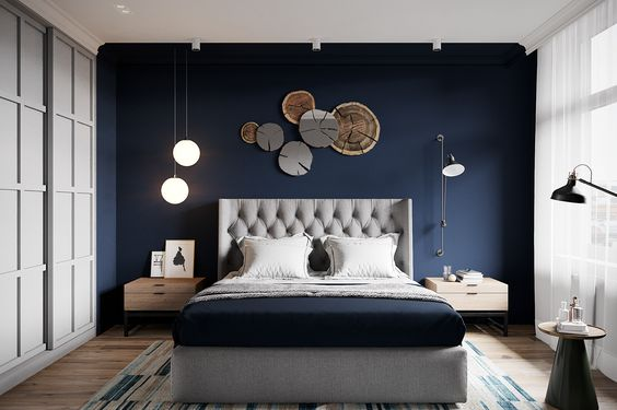 33 Epic Navy Blue Bedroom Design Ideas to Inspire You | Homesthetics ...