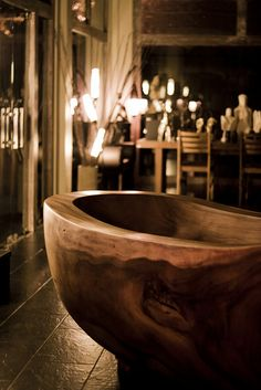 40. Sculpted Wooden Tub