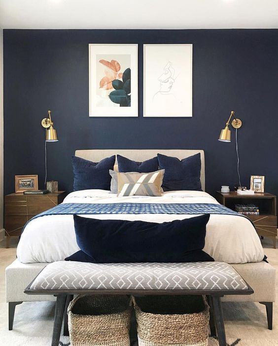 The Best Pinterest Bedroom Ideas For 2019: 33 Epic Navy Blue Bedroom Design Ideas To Inspire You