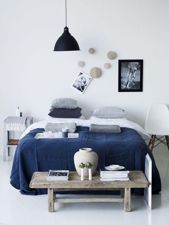 7. Eclectic Mixture of Elements Bound by Navy Blue