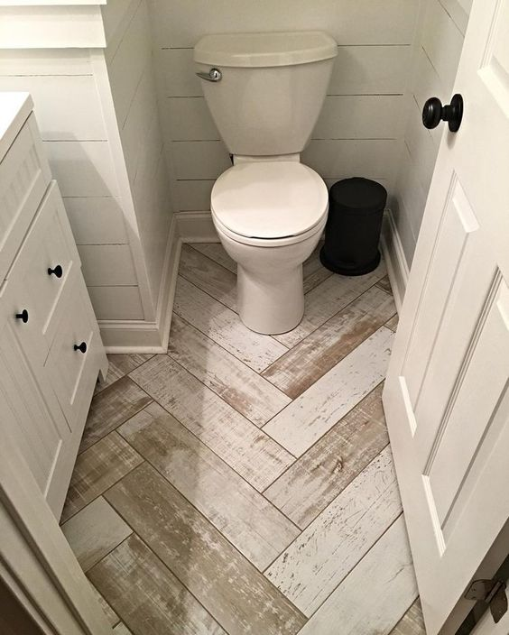 1. Use White Withered Wooden Flooring