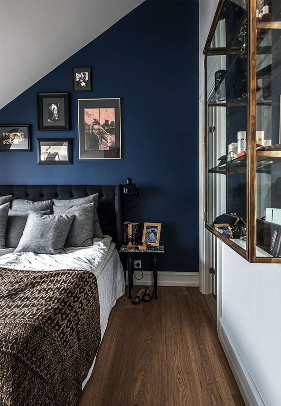 3. Navy Blue Triangle in the Attic