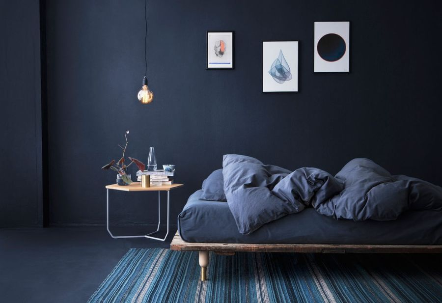 31. All Navy Blue Bedroom Design