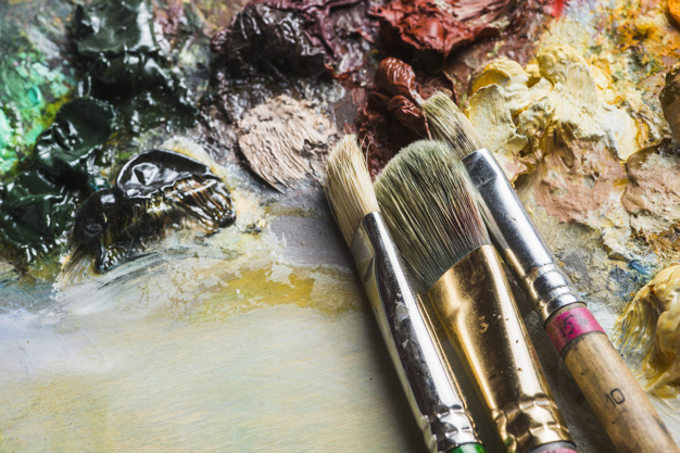 How to Clean Oil Paint Brushes 1