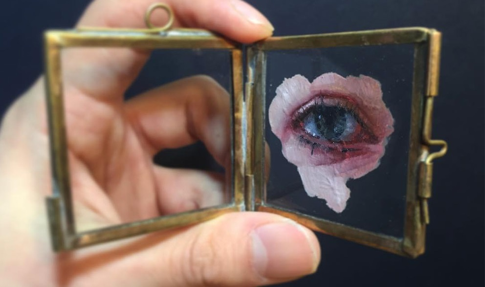 glass painting with oilds